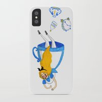 alice wonderland iPhone & iPod Cases featuring Wonderland by Toadstool Cheeks