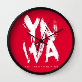 YNWA You'll Never Walk Alone Wall Clock