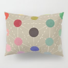 Colour cube (black point), Manual of the science of colour by W. Benson, 1871, Remake, vintage wash Pillow Sham