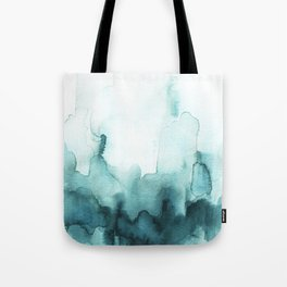 Soft teal abstract watercolor Tote Bag