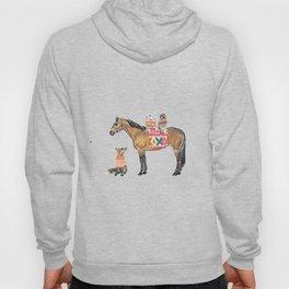 Family with horse, fox, rabbit, owl Hoody