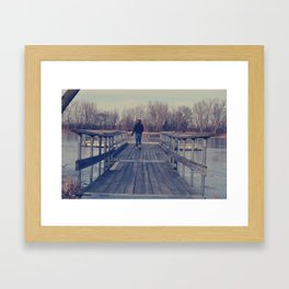 Frozen Dock Framed Art Print