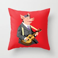 Smokey Hog Mcghee Throw Pillow