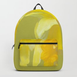 Sign of Spring - Yellow Narcissus on Spring Green Background #decor #society6 #buyart Backpack