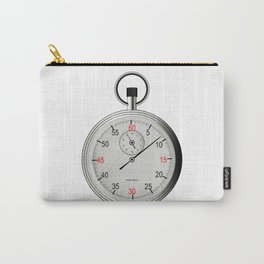 Silver Stop Watch Carry-All Pouch