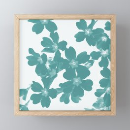 Floral Teal Framed Mini Art Print