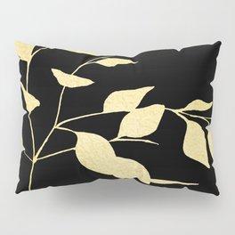 Gold & Black Leaves Pillow Sham