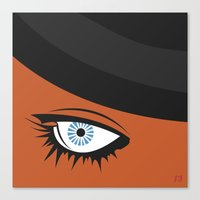 clockwork orange Canvas Prints featuring Clockwork Orange by Rosie Sobczuk