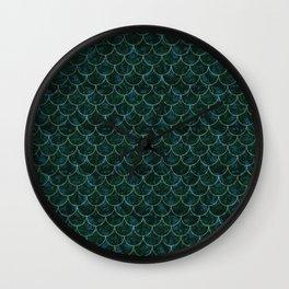 Murky Mermaid Scales Wall Clock