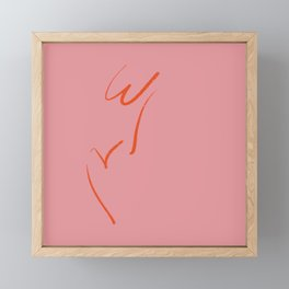 Original W&V in pink Framed Mini Art Print