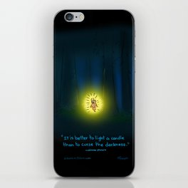 Forest Candle Firefly  iPhone Skin