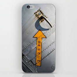 Airplane Metal Rescue Sign iPhone Skin