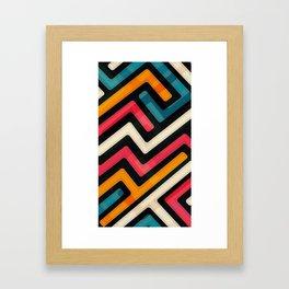 colored streets Framed Art Print