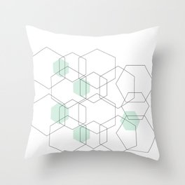 Modern Hexagon Design Throw Pillow