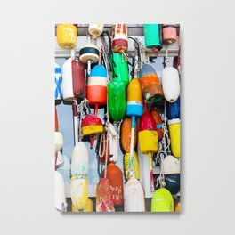 Lobster Buoys Metal Print
