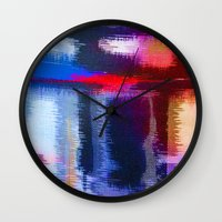 fabric Wall Clocks featuring Splat Fabric by Good Sense