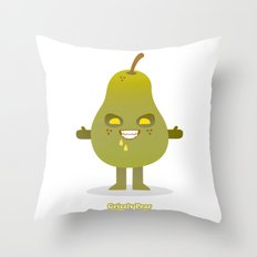 'Grizzly Pear' Robotic Throw Pillow