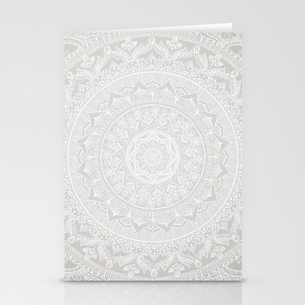 Mandala Soft Gray Stationery Cards
