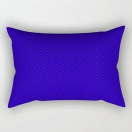 Blue Diamond Pattern Rectangular Pillow