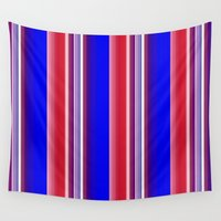 striped Wall Tapestries featuring Striped Wallpaper by lillianhibiscus