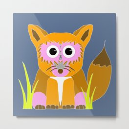 Pink Fox  Metal Print
