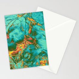fire opal rift Stationery Cards