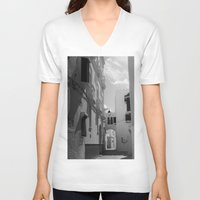 morocco V-neck T-shirts featuring Asilah, Morocco by Petrichor Photo
