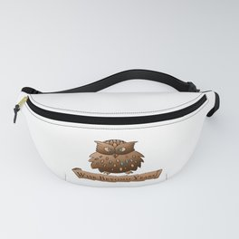 Fluffy Wisdom Owl with Scroll - Wise Beyond Years Fanny Pack