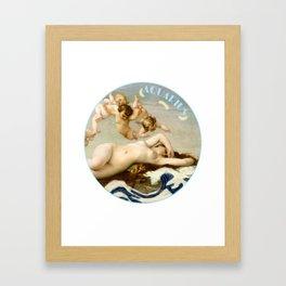 Zodiac art: aquarius Framed Art Print