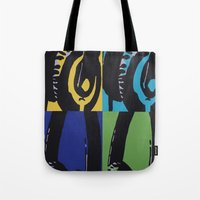 headphones Tote Bags featuring Headphones by Brianms18