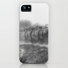 Winter Locomotion Black and White iPhone Case