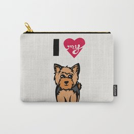 I Love My Yorkie Carry-All Pouch