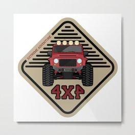 Red offroad car truck 4x4 Metal Print