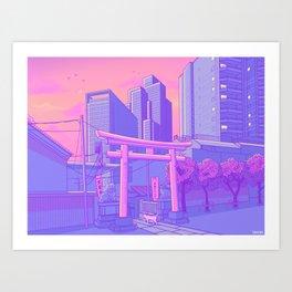 Roppongi Light Art Print