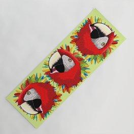 Macaw Parrot Paper Craft Digital Art Yoga Mat