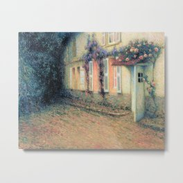 Henri Le Sidaner - Roses and Wisterias on the House (new color editing) Metal Print