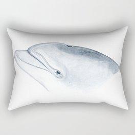 Bottlenose dolphin portrait Rectangular Pillow
