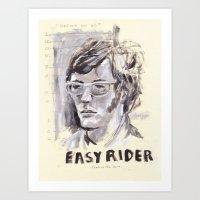 Easy Rider Collage Art Print
