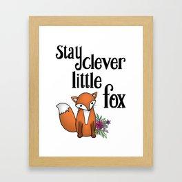 Clever Fox Framed Art Print