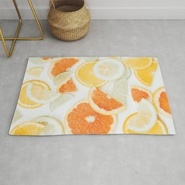 citrus fresh orange twist Rug