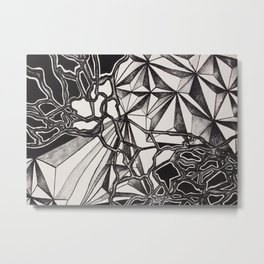 Neurogeometry Metal Print