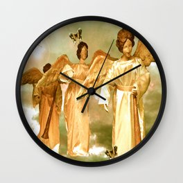 Messengers of Peace and Love Wall Clock