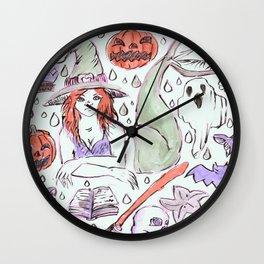 halloween mermaid Wall Clock