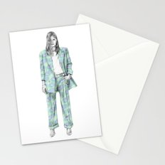 Balmain print suit Stationery Cards