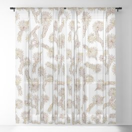Joshua Tree Bricks by CREYES Sheer Curtain