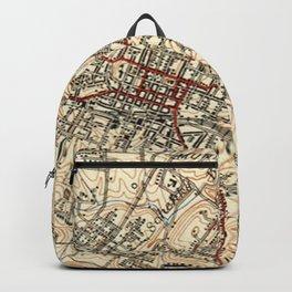 Vintage Map of Charlottesville Virginia (1949) Backpack