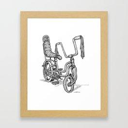 'Slicks R 4 Chicks' - Girls Mod Stingray Muscle Bike Cartoon Retro Bicycle Framed Art Print
