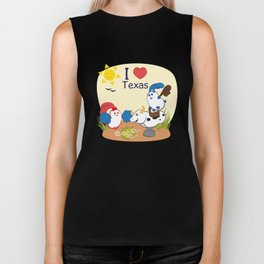 Ernest and Coraline | I love Texas Biker Tank