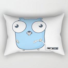 Golang - gopher wizard Rectangular Pillow