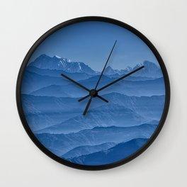 Blue Hima-layers Wall Clock